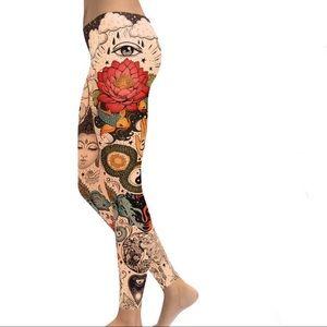 Gearbunch Tattooed Lotus Leggings